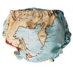 Culotte bebe mapa mundi