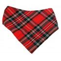 Bandana escocesa roja