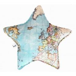 Cojin estrella bebé mapamundi