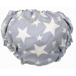 Cubrepañal estrella azul