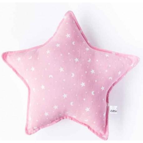 Cojin estrella bebé en color rosa