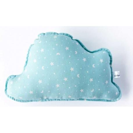 Cojin nube bebé en color azul