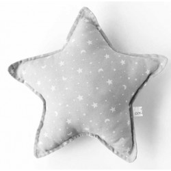 Cojin estrella bebé en color gris