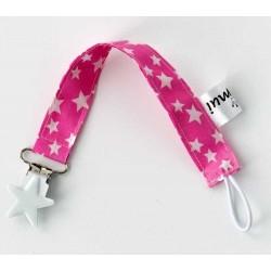 chupetero tela rosa estrella
