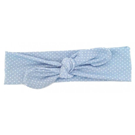 turbante para bebé elástico azul