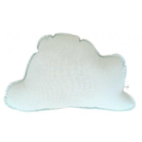 Cojin nube para bebé en color verde