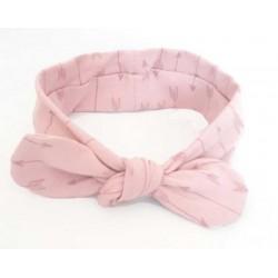 turbante para bebé flechas rosas