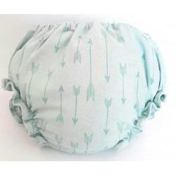 Cubre pañal para bebé con flechas mint