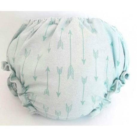 Cubre pañal para bebé con flechas azules