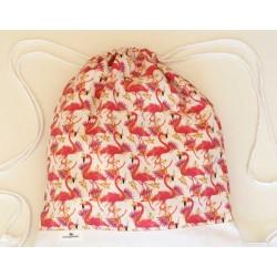 mochila flamencos flor