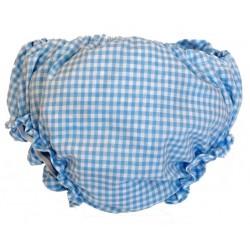 Cubre pañal para bebé vichy azul