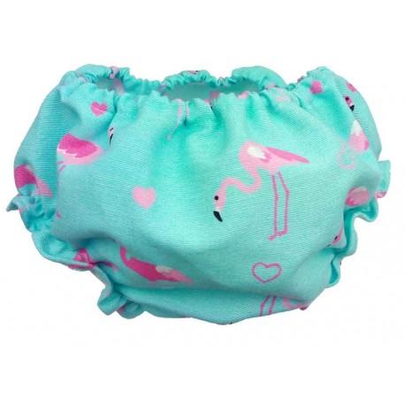 culote bebé flamenco azul