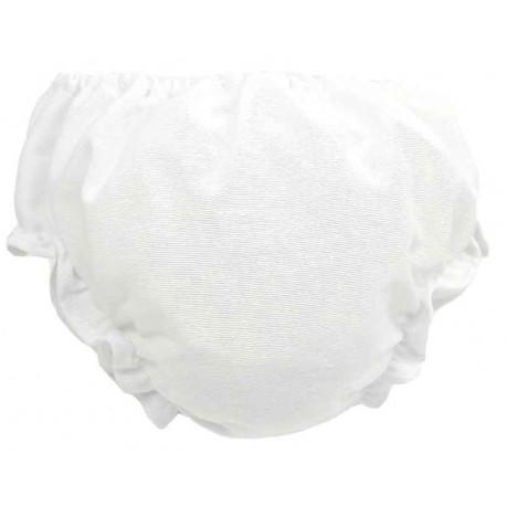 cubre pañal braguita en blanco