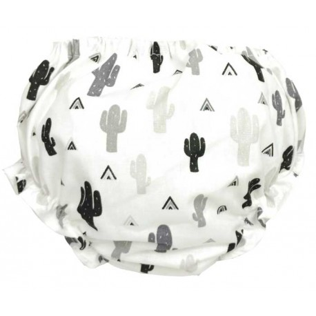 cubre pañal braguita cactus blanco