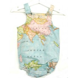 Ranita para bebé mapamundi