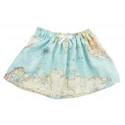 Falda bebé mapa mundi