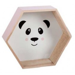Estantería madera infantil panda