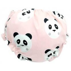 Cubrepañal para bebé oso panda rosa