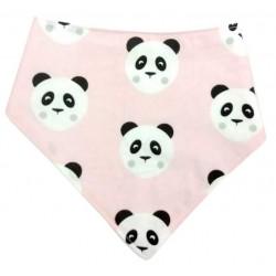 Bandana para bebé panda rosa