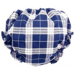 Cubrepañal braguita bebe escoces azul