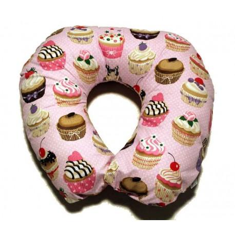 Cojin de lactancia rosa pastel
