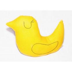 cojin pajaro amarillo