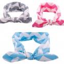 Turbante rayas azul, gris o rosa