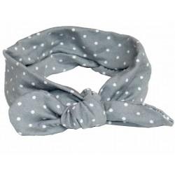 cinta pelo bebe gris topitos