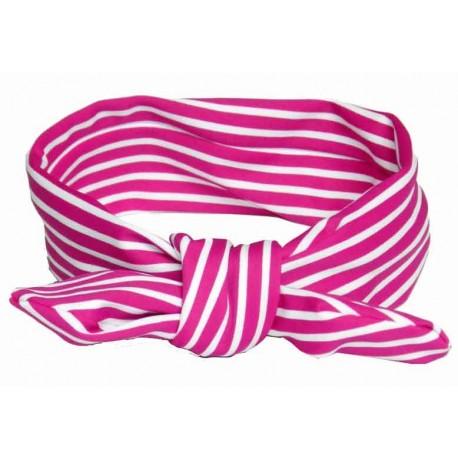 cinta pelo franjas fucsia