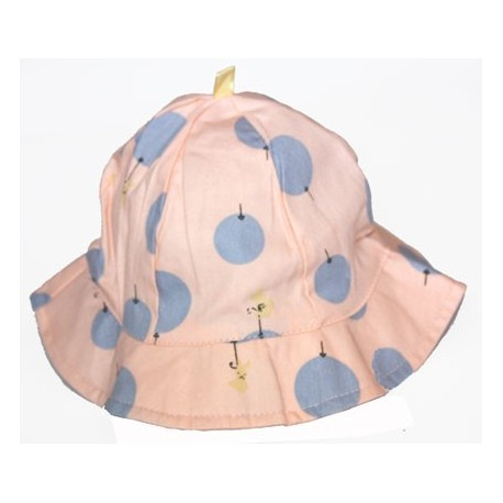 sombrero playa para bebe a topitos