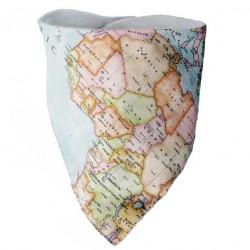 Bandana bebe mapa mundi
