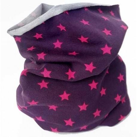 Cuello tubular bebé con estrellas