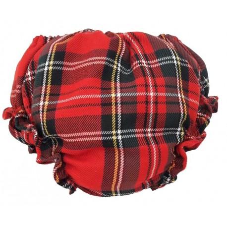Cubrepañal escocés rojo