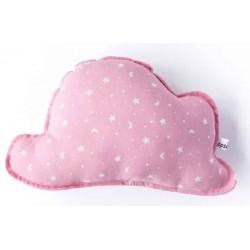 Cojin nube bebé en color rosa