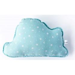 Cojin nube bebé en color verde