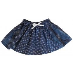 Falda bebé azul marino topitos