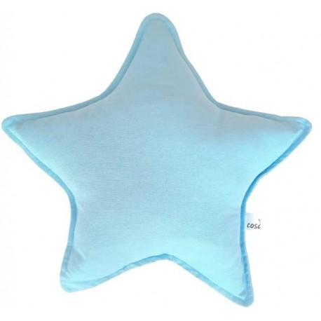 Cojin estrella bebé azul