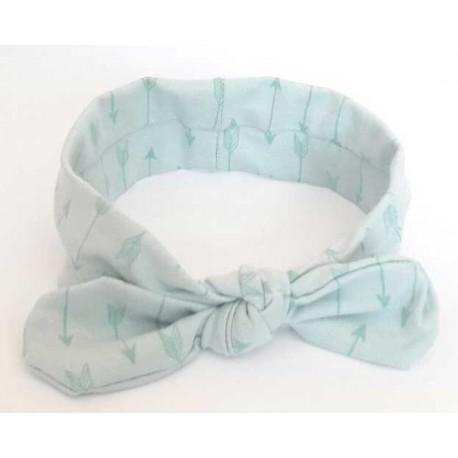 turbante para bebé flechas azul