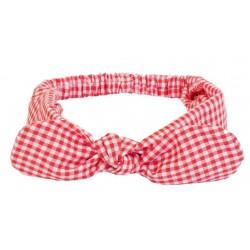 turbante para bebé vichy rojo