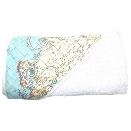 Capa de baño bebé mapamundi