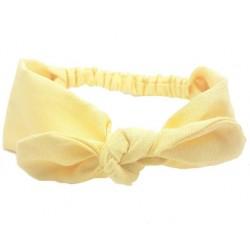 turbante diadema para bebé amarilla