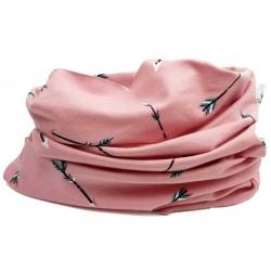 Cuello bebé buff rosa salon flechas