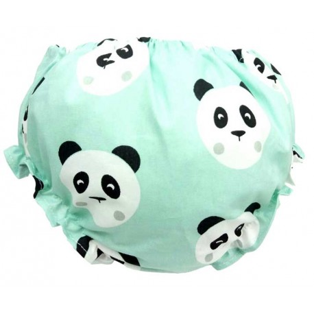 Cubrepañal para bebé oso panda mint
