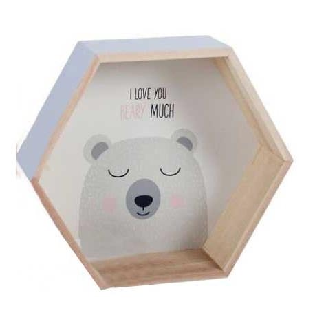 Estantería madera infantil oso