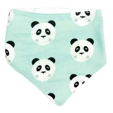 Bandana para bebé panda mint