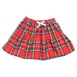 Falda bebé escocesa roja