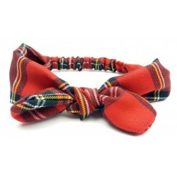 turbante para bebe escocés rojo