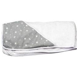 Capa de baño bebé estrellas y lunas gris