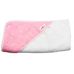 Comprar capa de baño para bebé rosa estrellas
