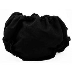 Cubrepañal braguita bebe color negro